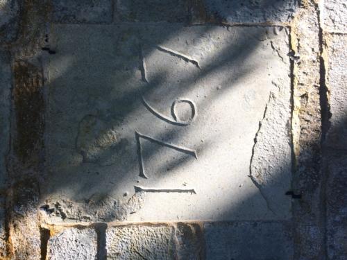 Inscription on south wall, Harja Kyrka.