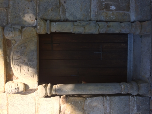 Romanesque doorway.